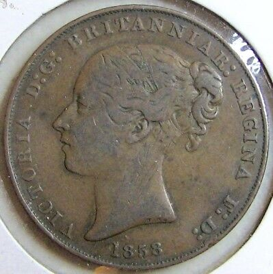 1858 JERSEY 1/13 Shilling; Previously Graded as VF