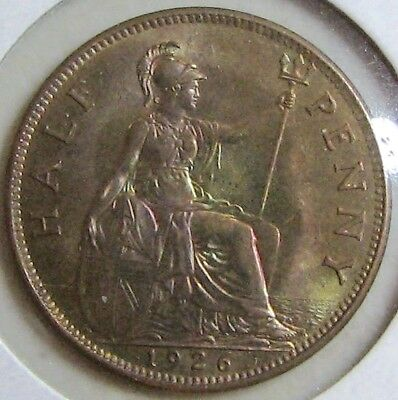 1926 GREAT BRITAIN Half Penny coin; Previously Graded as MS63; BEAUTIFUL!!