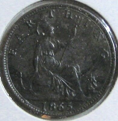 1865 GREAT BRITAIN Farthing; Previously Graded as 'EF'
