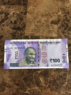NEW 100 Rupees UNC Gandhi Note Just Released 2018 ,1 note.