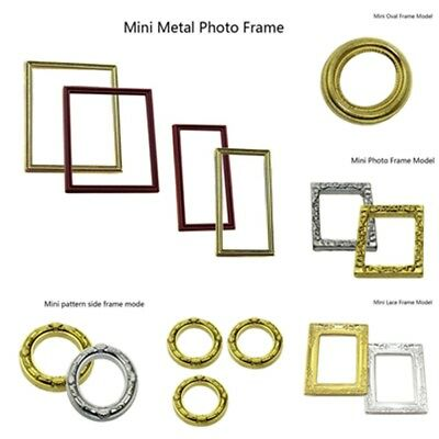 Dolls house Round Flower Photo Frames 1:12 Scale Picture Miniature DIY Decor