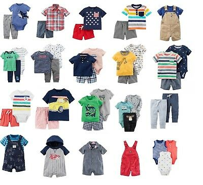 13701942ab4d CARTERS BABY BOYS Clothes Cotton Outfit Clothing Set 3
