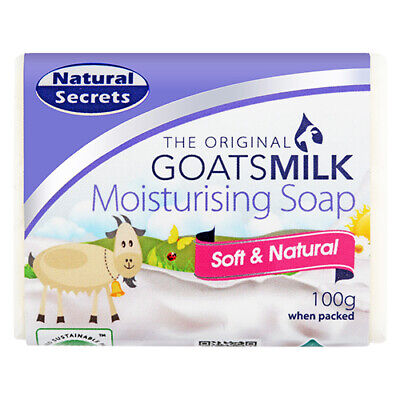 NEW Natural Secrets Soap Goat's Milk 100g Bath Body Soaps Toiletries