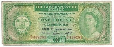 Belize 1 Dollar 1976 P33c circulated
