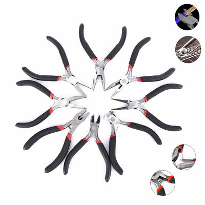 Mini Long Pliers Jewelry Round Nose Making Beading Wire Cutter Plier Hand Tool