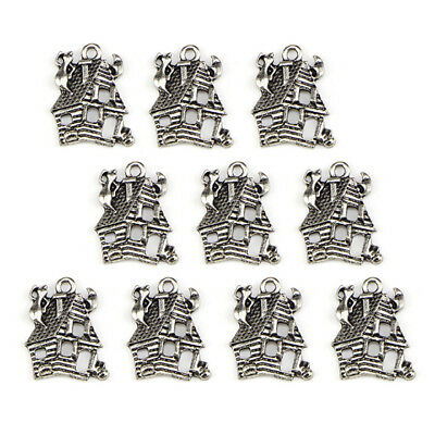 10PCS Lots Beads Tibetan Silver Charms Jewelry Crafts Pendant DIY Finding 3C