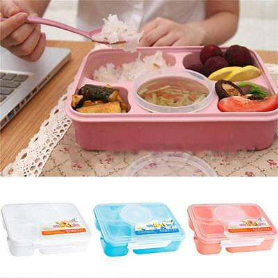 Meal Prep Food Containers Microwave BPA Free Plastic Lunch Box w/Lids FI