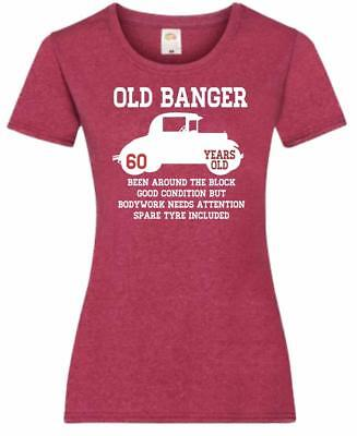 61st Birthday Gift Present Old Banger 60 Years 1958 Womens Heather TShirt Top