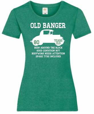 81st Birthday Gift Present Old Banger 80 Years 1938 Womens Heather TShirt Top