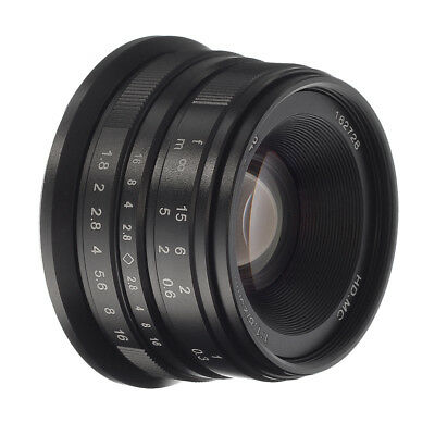 Manual Focus MF 25mm F/1.8 Prime Lens For Fujifilm X-mount X-PRO2 X-T10 X-A20