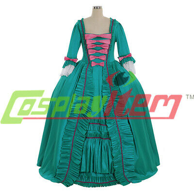 18th Century Marie Antoinette Colonial Gown green Dress Costume rococo dress