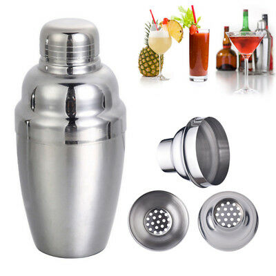 1PC Stainless Steel 250ml Cocktail Shaker Bartender Cocktail Martini Mixer Tool