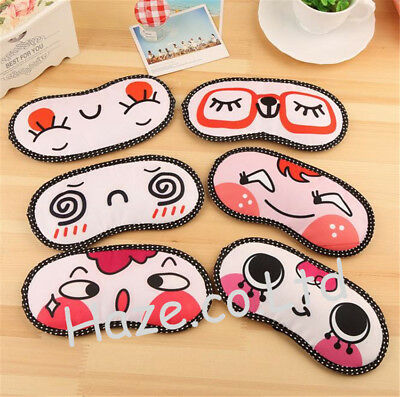 1pc Cartoon Eye Mask Cover Sleeping Funny Eyepatch Rest Toy