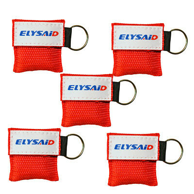 Brand First aid Rescue CPR MASK WITH KEYCHAIN CPR FACE SHIELD POCKET AED Red