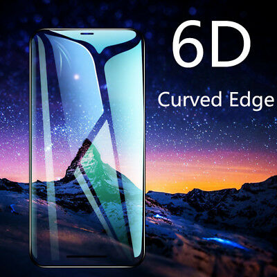 Screen Protector For iPhone XS Max XR X 3D/6D CURVED Full Cover  Tempered Glass