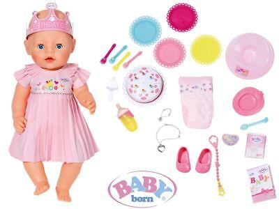 Zapf Creation Baby born Interactive Happy birthday Playset Realistic Function