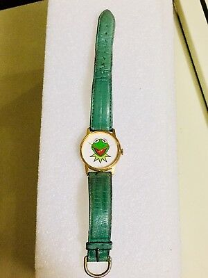 RARE Vtg 1987 Kermit The Frog Watch Image Watches Japan Jim Henson PROMO Works!