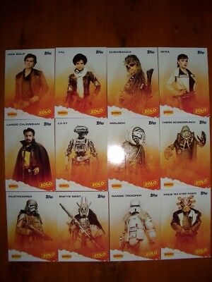 Star Wars Topps Solo Dennys Usa Exclusive Super Rare Card Set. Mint Condition