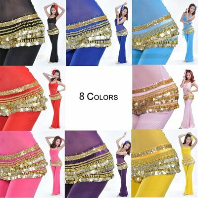 Belly Dance Costume Hip Scarf Tribal Coins Hip Belt Festival Fancy Wrap Skirt