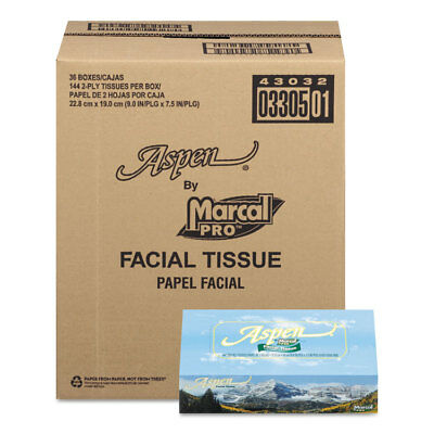 Marcal Pro  100% Recycled Convenience Pack Facial Tissue, White, 144 Sheets/Box