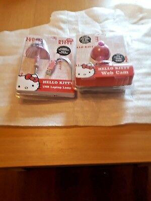 Hello Kitty Web Cam and Hello Kitty USB Laptop Lamp - Both items are Brand New
