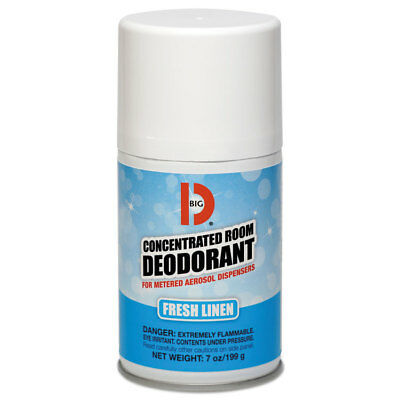 Big D Industries Metered Concentrated Room Deodorant, Fresh Linen Scent, 7 Oz Ae