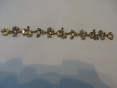 Vtg Charm Bracelet Bear Cartoon