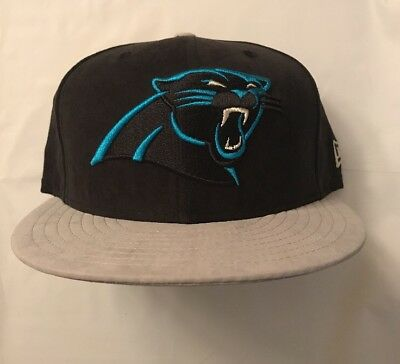 63be7bc3 CAROLINA PANTHERS NEW Era NFL Suede 9FIFTY Snapback Cap Hat New