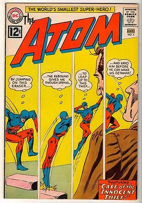 DC Comics Silver age #4 1962 VFN- ATOM  7.0  case of the innocent thief