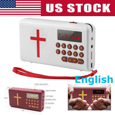 White Rechargeable Audio Player Electronic Bible Talking King James- Version
