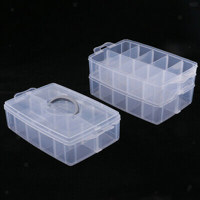 Plastic Jewelry Organizer Box with Movable Divider Earring Storage Container