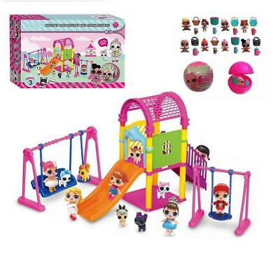 DOL LOL Surprise Doll Park House Game Slide Play Set Baby Girl Kids Gift Toy