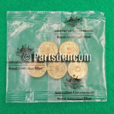 5 x 2015 Orange coloured $2 two dollar coin coins Remembrance Day unc in RAM bag