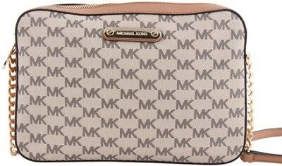 90f790160ced Michael Kors Canvas Crossbody Bag Beige Gold One Size Authenticity  Guaranteed