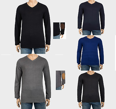 Ex Uk Chainstore Mens Cotton Rich Knitted V-Neck Jumpers Size Uk 34-52