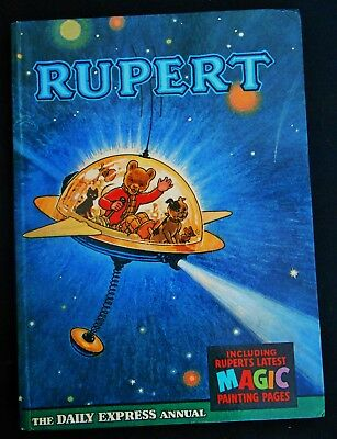 Superb Vintage 1966 Rupert Bear Annual, Magic Paintings Untouched