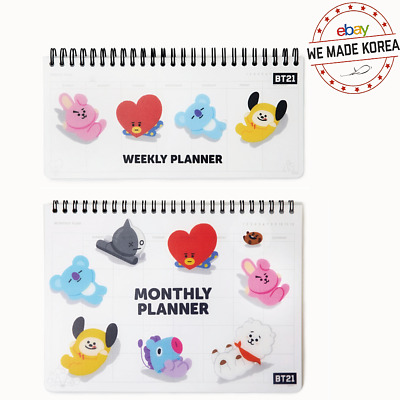 BTS BT21 Spring Monthly & Weekly Planner Diary Official K-Pop Authentic Goods