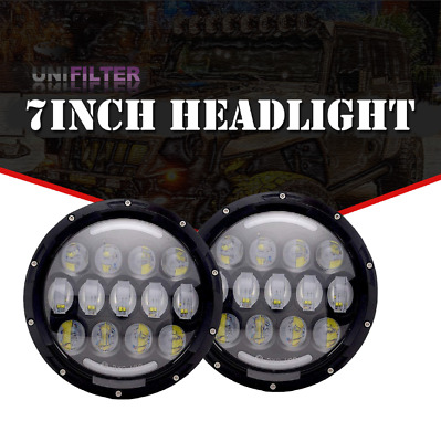7Inch LED Headlight H4 H13 DRL Hi/Lo Beam Upgrade For Jeep Renegade Qty2/156W vo