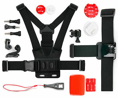 Action Camera 17-in-1 Sports Accessories Bundle Compatible with Crosstour CT9000