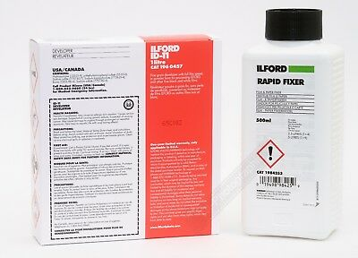 Ilford ID 11 1L & Rapid Fixer 500ml Black & White Film Developer Kit Free Post
