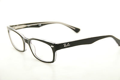 1e8976d98d New Authentic Ray Ban RB 5150 2034 Black Clear 52mm Frames Eyeglasses RX