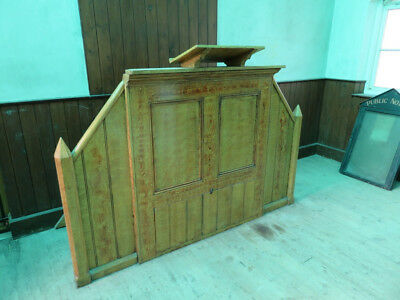 Church Chapel Pulpit Lectern, Pitch Pine Architectural Salvage, Man Cave, Pine