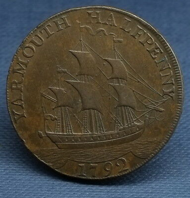 Yarmouth Halfpenny Token 1792, D&h Norfolk 52, See Photos