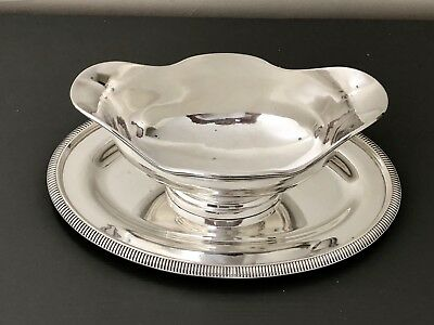 Antique Christofle Silver Plated Large Gravy Sauce Boat