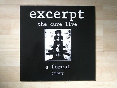 """THE CURE - Excerpt live A FOREST * EP Maxi 1984 * Fiction 883937-1 Vinyl 12"""" TOP"""