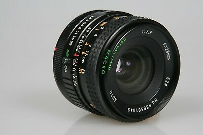 Canon FD Mount 28mm f/2.8 MACRO Auto Wide Angle Lens Tested & Clean AE-1