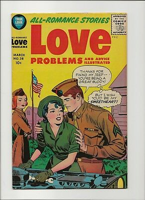 Love Problems and Advice Illustrated 38 F/VF 7.0 Harvey 1956 Golden Age Romance