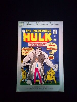 The Incredible Hulk Marvel Comic Milestone Edition A Reprinting #1 1962 (1991)