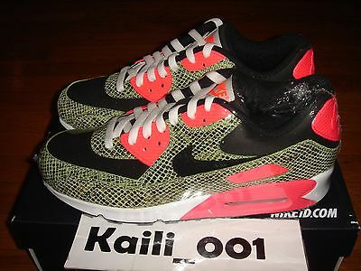 NIKE AIR MAX 1 ID Size 9 Snakeskin Atmos Cement Pink Powerwall BRS B