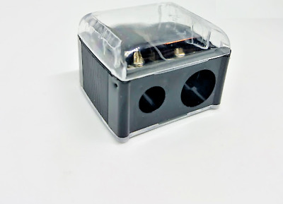 Body Collection Duo Pencil Sharpener with Lid - Black